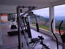 vista da sauna e academia